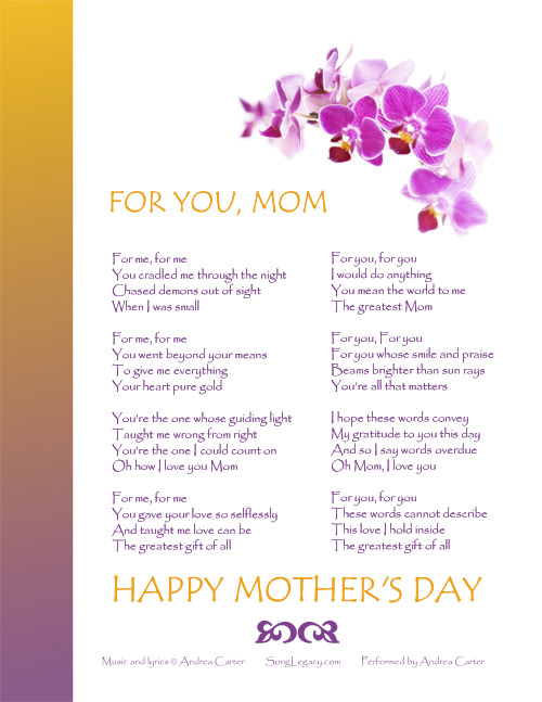 custom mother s day songs links websites about mother s day